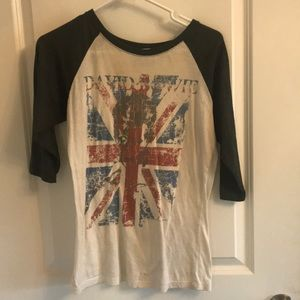 Tops - David Bowie graphic tee size S